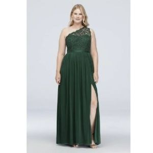 Juniper One Shoulder Lace Bridesmaid Dress